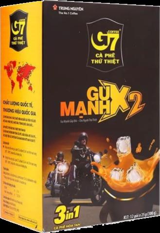 Растворимый кофе Trung Nguyen G7 3 в 1 Strong X2, в пакетиках, 12 штук