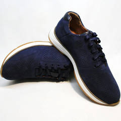 Кожаные кроссовки мужские Faber 1957134-7 Blue