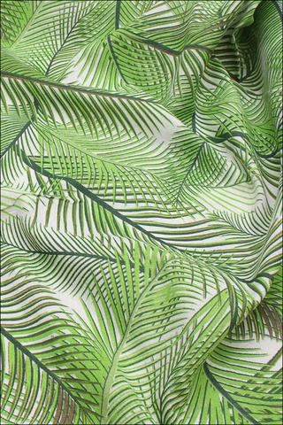 Листья тропик, хлопок-лен