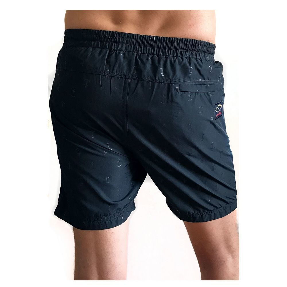 Мужские шорты пляжные темно-синие PAUL & SHARK PSH9088