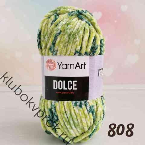 YARNART DOLCE 808, Зеленая черепаха