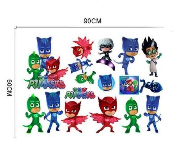 Герои в масках 3D наклейка