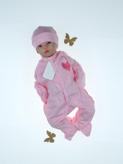 Зимний комплект на выписку Вязка комби розовый