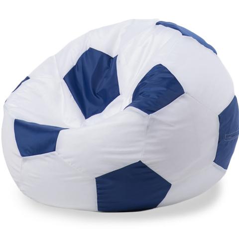 Пуффбери Внешний чехол Кресло-мешок мяч  XXL, Оксфорд Белый и синий