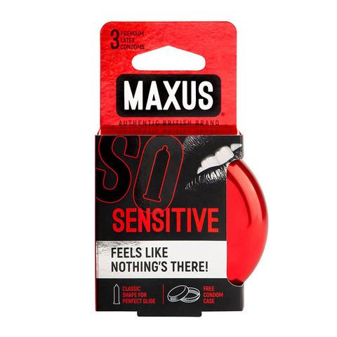 MAXUS Sensitive №3 Презервативы в железном кейсе ультратонкие