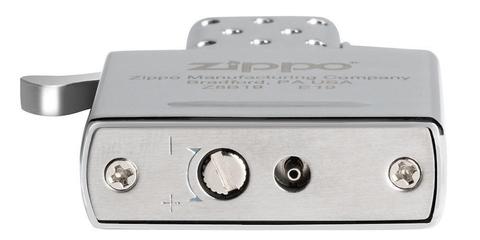 Газовый вставной блок для широкой зажигалки Zippo, одинарное пламя, нержавеющая сталь123