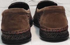 Модные слипоны туфли мужские кожаные smart casual для мужчин Luciano Bellini 91737-S-307 Coffee.