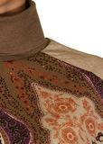 Водолазка из шерсти и вискозы. Цвет бежевый/коричневый ETRO