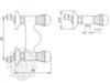 Смеситель для душа Korona Swarovski ML.KRN-4746 схема