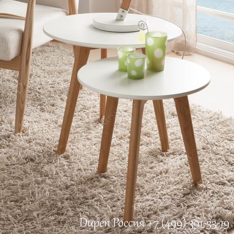 Комплект из двух столиков DUPEN CT-904 Белый