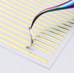 3D металлические наклейки полосы GOLD (гнутся)