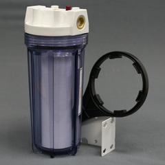 Комплект PS 891C1-W12-PR-BN (прозрачная колба, кнопка сброса, латун. вставка, картридж, 1/2