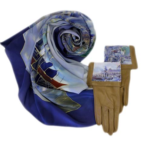 Кожаные перчатки Венеция