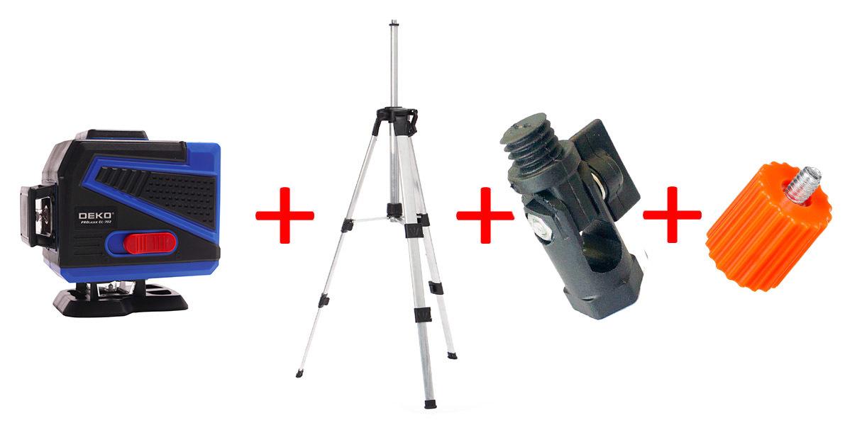 Лазерные уровни DEKO Лазерный уровень DEKO 360° GL702 12 зеленых лучей(нижний горизонт) + штатив 1,2 м DEKO_31212125.jpg