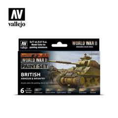 Model Color Set: WW II British Armour & Infantry (6)