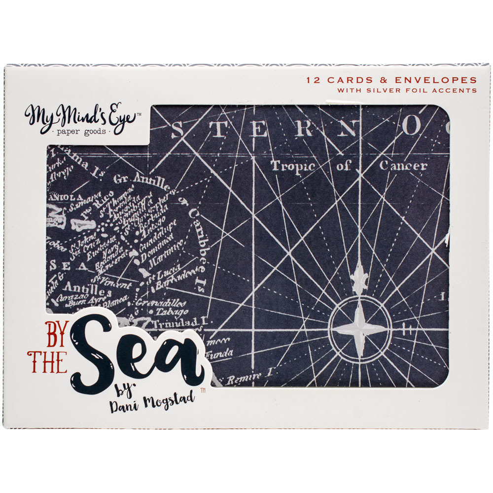 Открытки с конвертами из коллекции BY THE SEA от My Mind