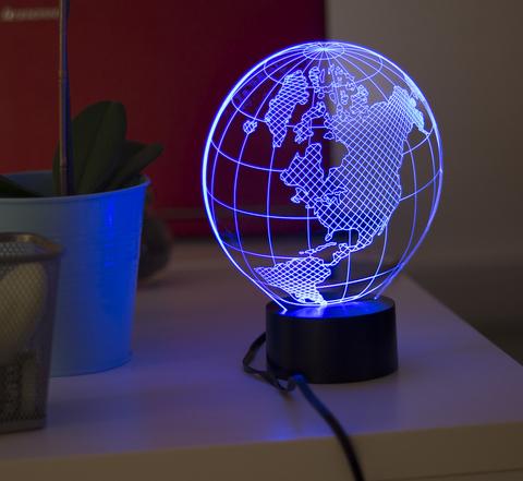 3д светильник Глобус Америка
