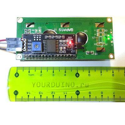 Дисплей LCD1602 (зеленый) + I2C Конвертер
