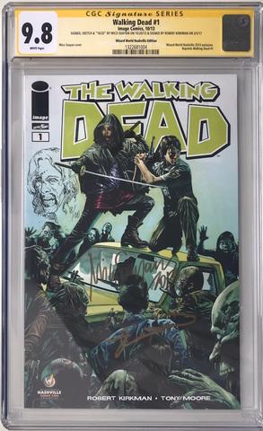 CGC The Walking Dead #1. Автограф Роберта Киркмана. Скетч Мико Суаян. Состояние 9,8