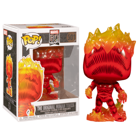 Marvel 80th The Original Human Torch Funko Pop! Vinyl Figure || Человек-факел