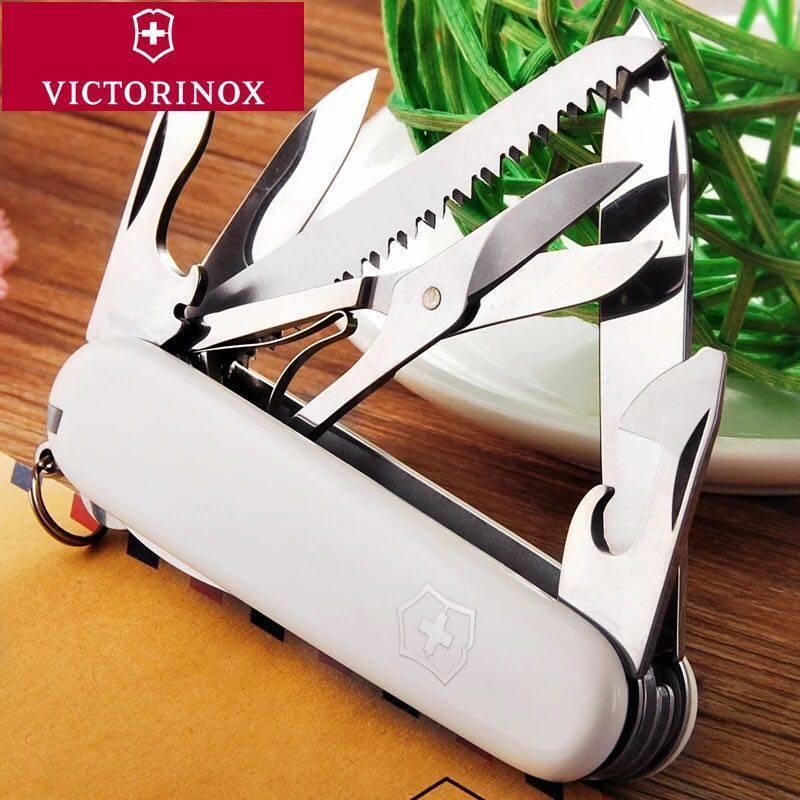 Складной нож Victorinox Huntsman (1.3713.7R) 91 мм., 15 функций, цвет белый