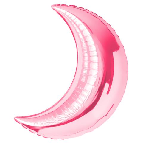 Шар-полумесяц розовый, 71 см