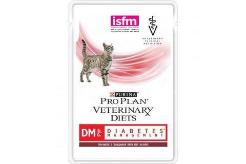 Консервы Purina Pro Plan Veterinary Diets DM для кошек с диабетом, говядина,  85 г