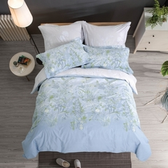 Сатиновое постельное бельё  2 спальное Сайлид  В-195