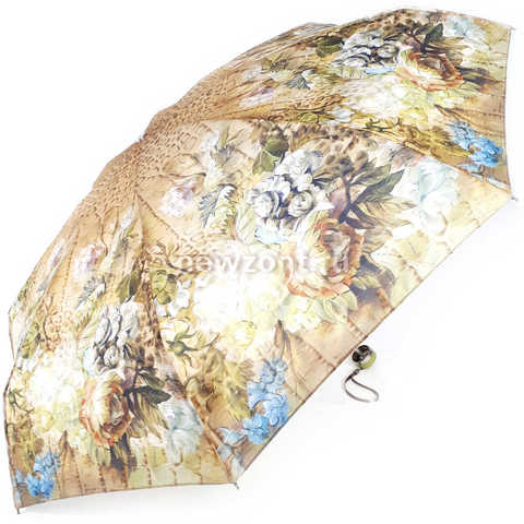 Карманный зонт TRUST в фисташковых оттенках «Цветочный Рай»