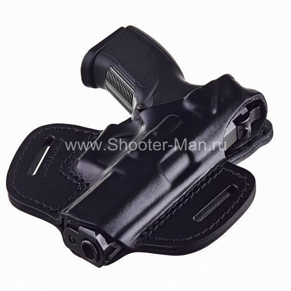 Кобура кожаная для пистолета Grand Power Т 10 и Т 12 поясная ( модель № 2 )
