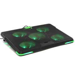 Подставка для ноутбука Crown, охлажд, до 19.0, 5 вент, ч/зел, CMLS-132