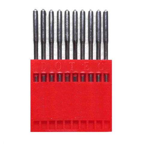 Dotec 134LL  № 140 иглы для кожи с левой заточкой для  швейных машин челночного стежка   Soliy.com.ua