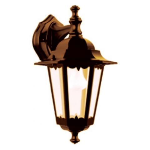 Светильник 6060-12 садово-парковый шестигранник, 60Вт, вниз, бронза TDM