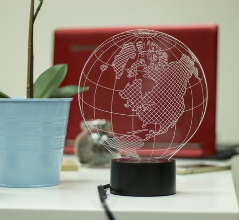 3D лампа Глобус Америка