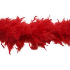 Боа из перьев индейки 80 гр., 2м., красный