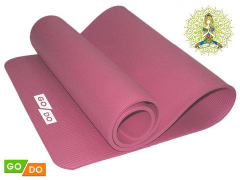 Коврик для йоги и фитнеса. Цвет: розовый:  PINK К6010