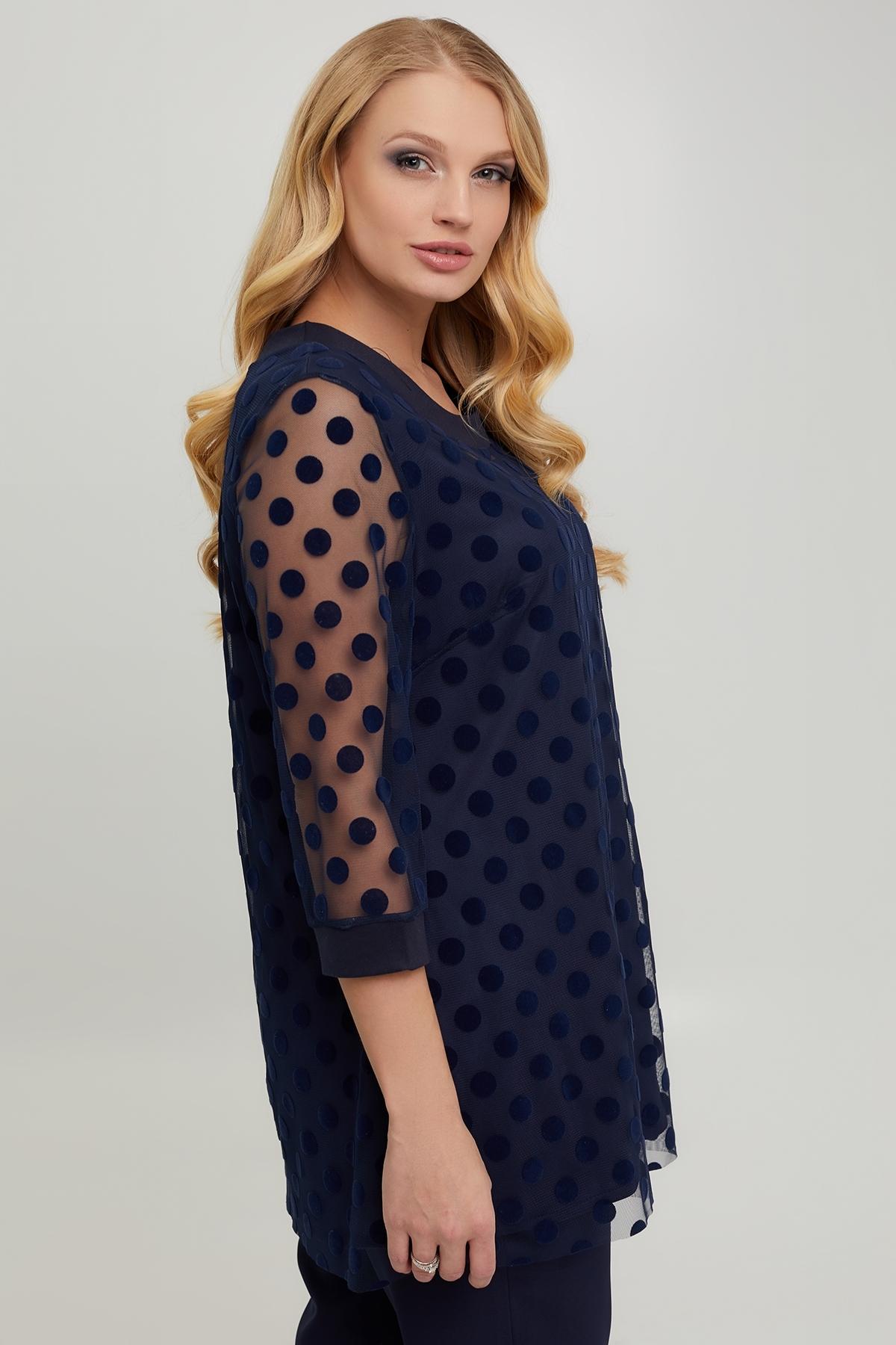 Блуза Грация (синий)