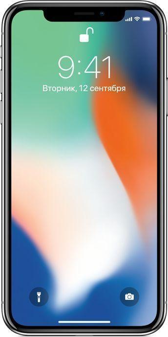Новый Apple iPhone X 64 ГБ Серебристый (обменка ростест)