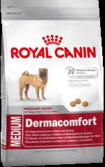 Корм для собак при раздражениях кожи Royal Canin Medium Dermacomfort