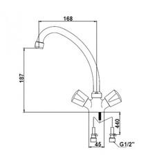 Смеситель KAISER Luna 11083 для кухни схема