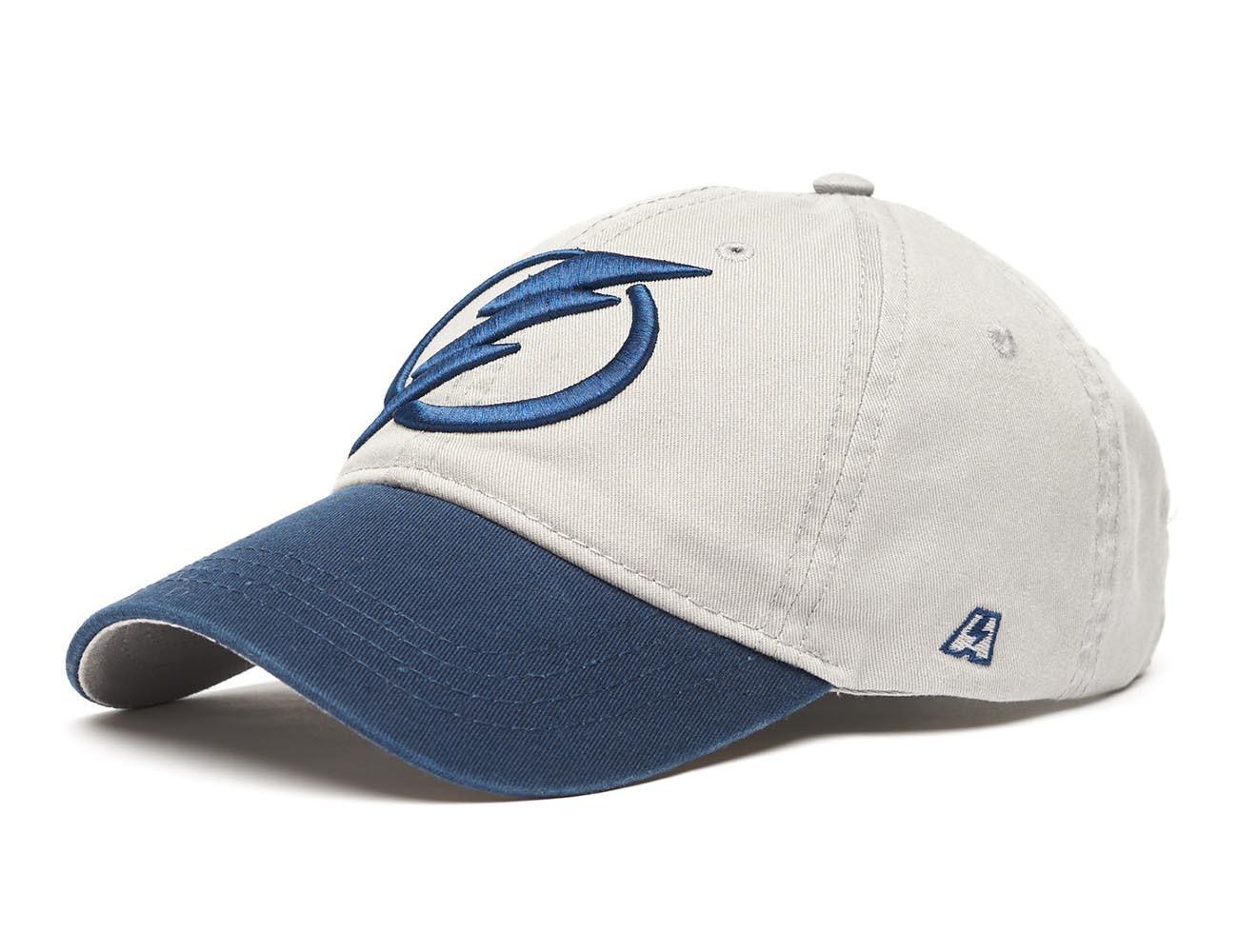 Бейсболка NHL Tampa Bay Lightning серая (подростковая)