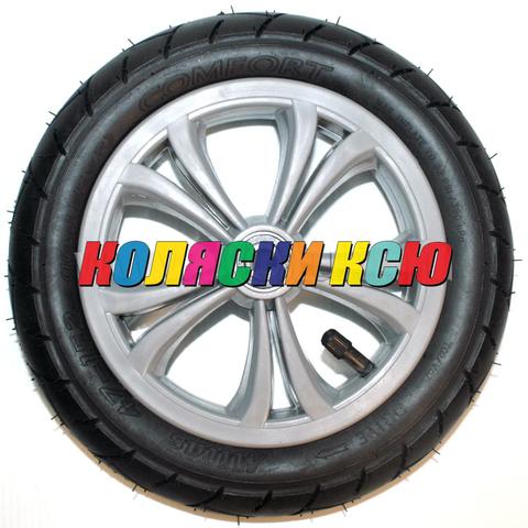 Колесо для детской коляски №005072 надув 10дюймов без вилки 47-152 10х1,75х2 СЕРОЕ