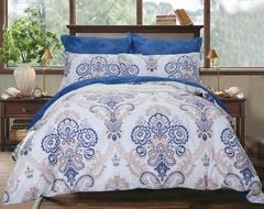 Сатиновое постельное бельё  1,5 спальное Сайлид  В-186
