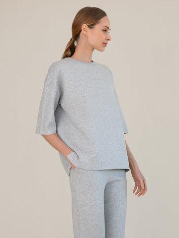 Женский джемпер цвета серый меланж из вискозы - фото 2