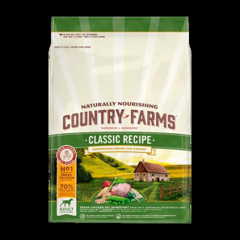 Country Farms Classic Recipe Сухой корм для взрослых собак с высоким содержанием курицы классический, полнорационный