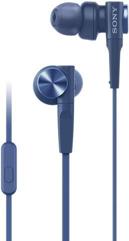 Купить наушники Sony MDR-XB55APL синего цвета серии EXTRA BASS