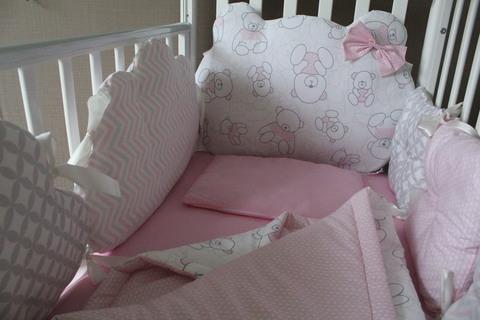 Комплект в кроватку Ms. Teddy, на 4 стороны кроватки