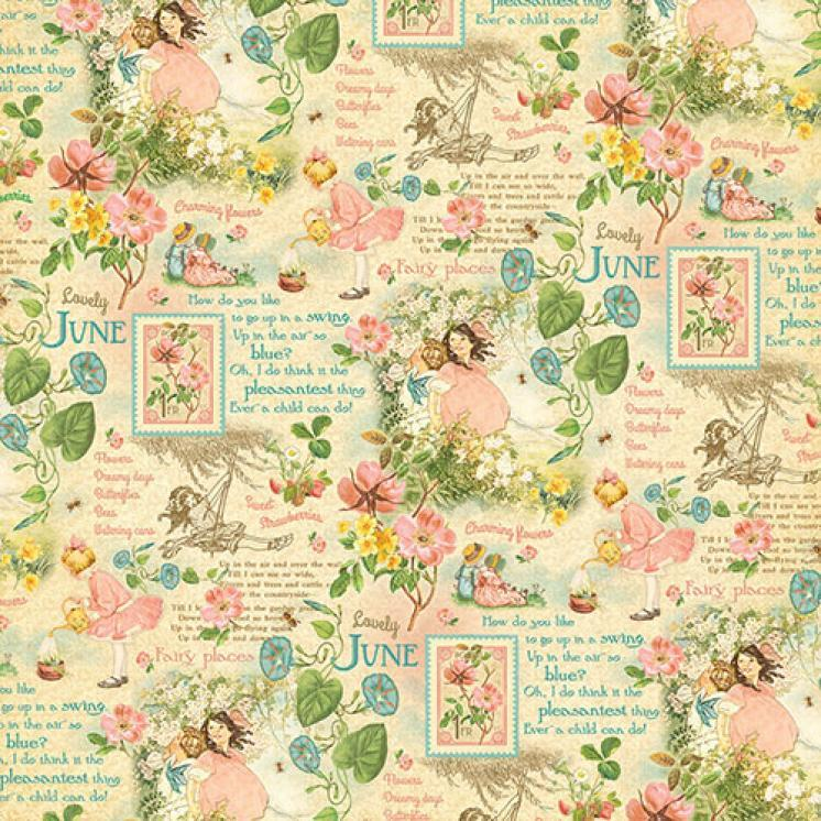 Бумага для скрапбукинга June Montage, Graphic45