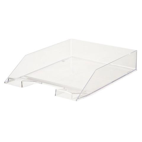 Лоток для бумаг горизонтальный Attache прозрачный (4 штуки в упаковке)
