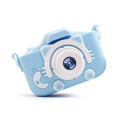 Детский фотоаппарат SmileZoom Fun Camera Котенок Kitti / Голубой